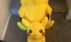 I have for sale 3 Pikachu Pokemon small, Medium and large great condition