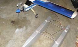 """Selling my RC aircraft plus everything included to fly them. Selling all as a package. Planes: 1x Thunder Tiger Trainer on wheels 73"""" wing 58"""" body Equiped with Thunder Tiger GP 61 engine + receiver and servos Set of fiberglass floats with rudder 36""""long"""