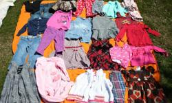 No stains Excellent used condition. Dresses are $4 each, pants and tops and sweaters etc are $2 each or make me an offer for the lot.