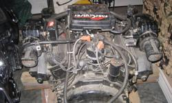 this unit is complete it has starter and alternator water pump and exhaust manifolds fresh motor call 445 0630