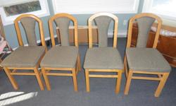 4 Dining Chairs, fabric upholstered