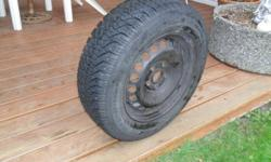 Selling 4 Goodyear Nordic Winter tires with black steel rims. Tire number P195/65R15.  Sold as package of 4 only. 5 Bolt pattern used on a Volkswagen Passat. Only used for one season. Get ready for Winter driving!  Features & Benefits: ? A Special Blend