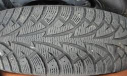 $900 new, very good quality tire!  Got a different vehicle, these are still in amazing condition, used one season.  Hankook Winter I*Pike (not to be confused with the crappy tire hankooks, these are a higher grade tire).  They were on an '01 Mazda MPV,
