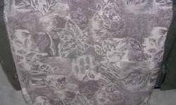 Mother in Law Purchase this Material for Me to Re-upholster My Kitchen Chairs While She Was Visiting Did Not Have the Heart to Tell Her That it Was Not My Style.. Has a Muted Beige Brown Tan and Sage Green Leaf Pattern There is a total of 4 metres and it