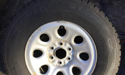 4 x winter studded tires off Chev tahoe suv. 6 bolt tire size are LT265/70R/17 used only one season. not needed as we sold the car.