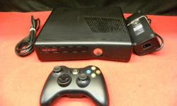 4GB X BOX 360 with 1 controllers, model #1439, item #143297-1. one (wireless) controller, and cords. WIFI-ready . Price of $89 includes all taxes. PLEASE REFER TO INVENTORY #143297-1 WHEN INQUIRING. We also have more items for sale at The Bay Street