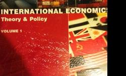 """For UBC ECON 355 Introduction to International Trade, 100% new!!Package includes:""""International Economics Theory & Policy Volume 1"""" written by Paul R. Krugman, Maurice Obstfeld and Marc J. Melitz AND Student assess code AND """"The Global Economy: Country"""