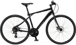 "BRAND NEW, never used - Gt Traffic 3.0 Flat Bar Road Bike - Mens, Black, XL, 2012. 34"" from floor to bar."