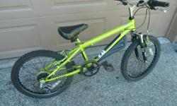 Very good condition, dual hand brakes, front shocks, kick stand, 20 Inch wheels