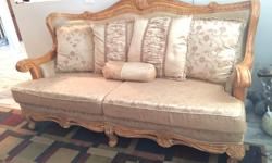 6pc living room sofa set with coffee tables 3pc couch set 1 sofa 1 lovesaet 1 chair 3pc Beautiful ashley living room coffees table set coffee table 2 and tables marble with glass top like new call 604-507-9409