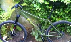 Perfect Condition- used twice at UBC trails only. Army Green 17inch Frame.