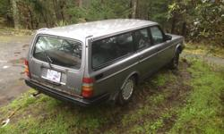 Make Volvo Model 240 Year 1987 Colour Grey Trans Automatic Auto Power windows and locks This car is solid, well maintained and in good running condition and I just replaced the fuel pump. The odometer is stuck at 320,000 Km about a year ago, so I'm not