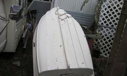 8 foot fibreglass punt and mini kota 12 volt 30 pound thrust motor, to be sold as a unit with floatation seats
