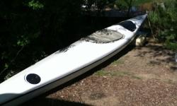 16 foot Nimbus kayak. Pro fiberglass repair on weak spot and gelcoat top and bottom. Excellent conditionincludes Nimbus Still waters paddle. New these kayaks sell for $4500 and up