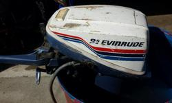 1977 Evinrude 9.9 Hp Model 10724A Tuned up and runs great. $400 Fuel line fitting included. French Creek