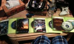 Hey there I have 9 mint condition xbox 360 games id like to sell, They are: NBA live 08                                      $3.00 Gun                                                   $5.00 Fable II                                             $10.00