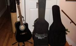 I am offering a Johnston acoustic/electric guitar.  I purchased this in the states last year and haven't used it as my wife and I had a baby only two months later.   I also have a older hard case and a brand new soft gig case to sell.  Everything to go as