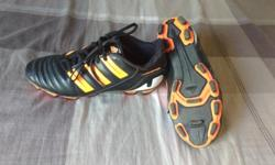 "Adidas ""Predator"" cleats. My 11 year old son wore these for one baseball season, so for about 2 months. They are still in good condition. They are a size 8, but seem to fit a little small for an 8. Would be a good fit for a size 7 or 7.5 I would say, but"
