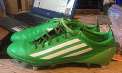 Adidas F50 adizero Soft ground boots Synthetic upper Metal replaceable studs Extra studs and tool included With cleat bag These boots are great for soccer or rugby. Us size 9 Worn a couple times Bought for 239.99 new 50$ obo Call, text, email anytime 250