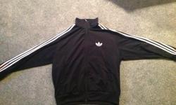 New ADIDAS jacket Size XL TRUST THE 3 stripe quality... Black color