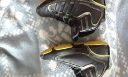 Adidas running shoes, or might be basketball shoes. In great shape. They are not leather.