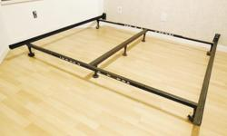 "Adjustable Metal Bed Frame - adjustable to fit Full Double, Queen, California King or King - H7"" , L72"" - used, in good condition. Disassembled - $80 firm Meet at oakridge center for pickup only Delivery extra"