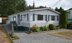 # Bath 2 Sq Ft 1124 MLS 414681 # Bed 2 Own your home and your lot in this unique bare land strata complex. Located minutes from Mill Bay center, this well cared for 1,124 square foot modular home backs onto common property with a nice country setting.
