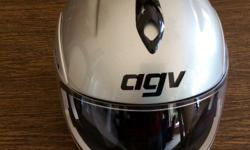 Silver Men's Motorcycle Helmet New Cost $220.00 Used with a scooter $60.00 or best offer