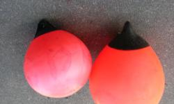 """AIR FILED BUOYS / FLOATS. $45.00 - 15.5 in. AIR FILED AIR FILED BUOYS / FLOAT. $30.00 - 14 in. AIR FILED AIR FILED BUOYS / FLOAT. Both are made in Norway. Both in very good condition. Its a house number so texting will not work. """"""""DO NOT"""""""" CALL BEFORE 8"""