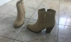 Tan Nubuck Leather - Perfect for Fall - Look brand new (worn 3 x)