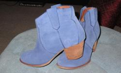 Aldo suede booties...worn once..EUC.....real suede...very nice quality...size 8
