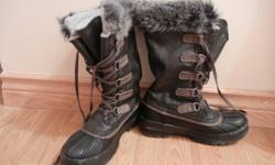 These boots were purchased last year for $110.00 and have barely been worn. They are very warm, water-resistant and are in pristine condition. I have probably applied the leather conditioner to them more often than I've worn them - just got another pair