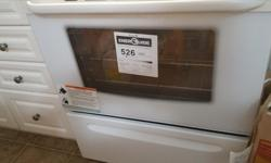 Used for less than a year, bought from RAM Appliances. This is a high quality stove. Would not be selling it, had we not upgraded to gas. As you can see, it is white in colour and I have kept it neat and clean. 4 coil burners, oven, broiler, timer all in