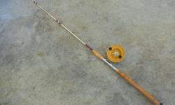 1 -- 7 ft. 1 piece salt water rod & 5 in. alvey reel good cond .