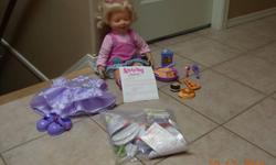 """""""Amazing Amanda"""" (voice recognition)  doll from Playmates Toys (2005) in near mint condition! Amazing Amanda with voice recognition resembles a real toddler in that she speaks, """"eats"""" toddler food and recognizes her """"Mommy's"""" voice upon programming. You"""