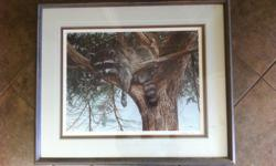 61cm by 50cm approx. in matted frame #210 of 670