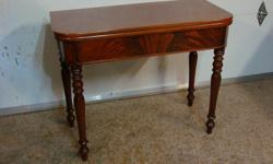 """Antique .100 year old Console Table in outstanding original condition....Dimensions are 37 x 18 x 29 """" in height... 37 x 36 when fully opened....$235"""