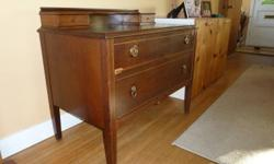 For sale, antique inlaid desk in good condition. $150.00 OBO