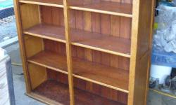 "nice rustic oak and fir shelf measures 45""x 44"" x 13"""