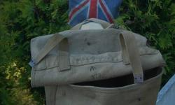 told this is a WW1 Canvas Bag or backpack. looks in excellent condition. no rips no tears to canvas... All Sewing is secure....2 straps.  today offers considered...time to part with this old thing