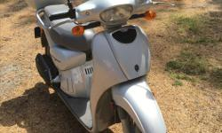 Aprilia Scarabeo 49cc Scooter, model First 50 Quattro Tempi. Four stroke engine, US model year 2007 with low mileage. Includes rear seat storage box. Garage kept. Aprilia is a division of Piaggio, and scooter is larger (and more stable) version of a