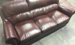 Reconditioned Ashley Leather sofa in very good condition. Pick up in Nanaimo. Can help with loading.