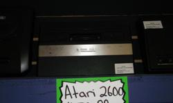 Item: Want to get some classic retro Atari on? Then this 2600 unit might be the right console for you. These are the slim models of the original wood finish 2600. More reliable then your classic model. We also have a decent amount of Atari games