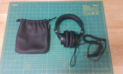 Audio Technica ATH M-50 Professional Studio Monitor Headphones w/ Carrying Case - In pristine condition, very lightly used, they have spent the majority of their life stored in a cupboard. - Exceptional audio quality for professional monitoring and