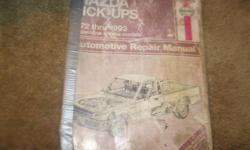 hello every one i am selling a automotive repair manual for a mazda puck up's from 1972 thru 1993 gasoline engine models it is for all mazda 2wd and 4wd pick up's for 1972 thru 1993 this manual book is worth a lot more then what i am asking for it it
