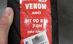 Brand new Avon venom x rear tire same size as 130-90-16