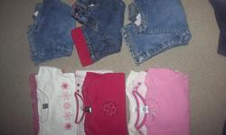 Everything is in excellent condition come from smoke free low scent home. Pictured left to right. 1 $25 - Baby gap ( 7 onsies, 3 lined jeans) 2 $25 - Baby gap, Gymboree, Cherokee (4 onsies, 4 long sleeve, 2 overalls, 2 leggings) 3 $30 - Please mum, Gap,