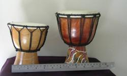 "Baby Djembe Drum  6"" x 8""  $25         ""                      5"" x 6""  $25   Great sounding hand drums! Mint"