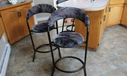 6 bar stools all solid medal $40.00 each or $200.00 for all 6