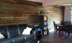Tired of looking at the same old drywall... Want something a tad more exciting? How about a feature wall... with some of the new stuff from Peerless. As we've said before you won't find this anywhere else... We have available Fir and Cedar barnboard